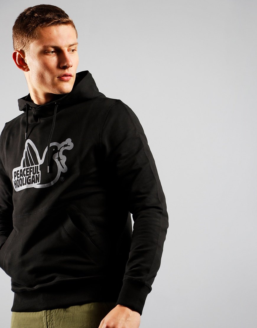 Peaceful Hooligan Outline Hoodie Black