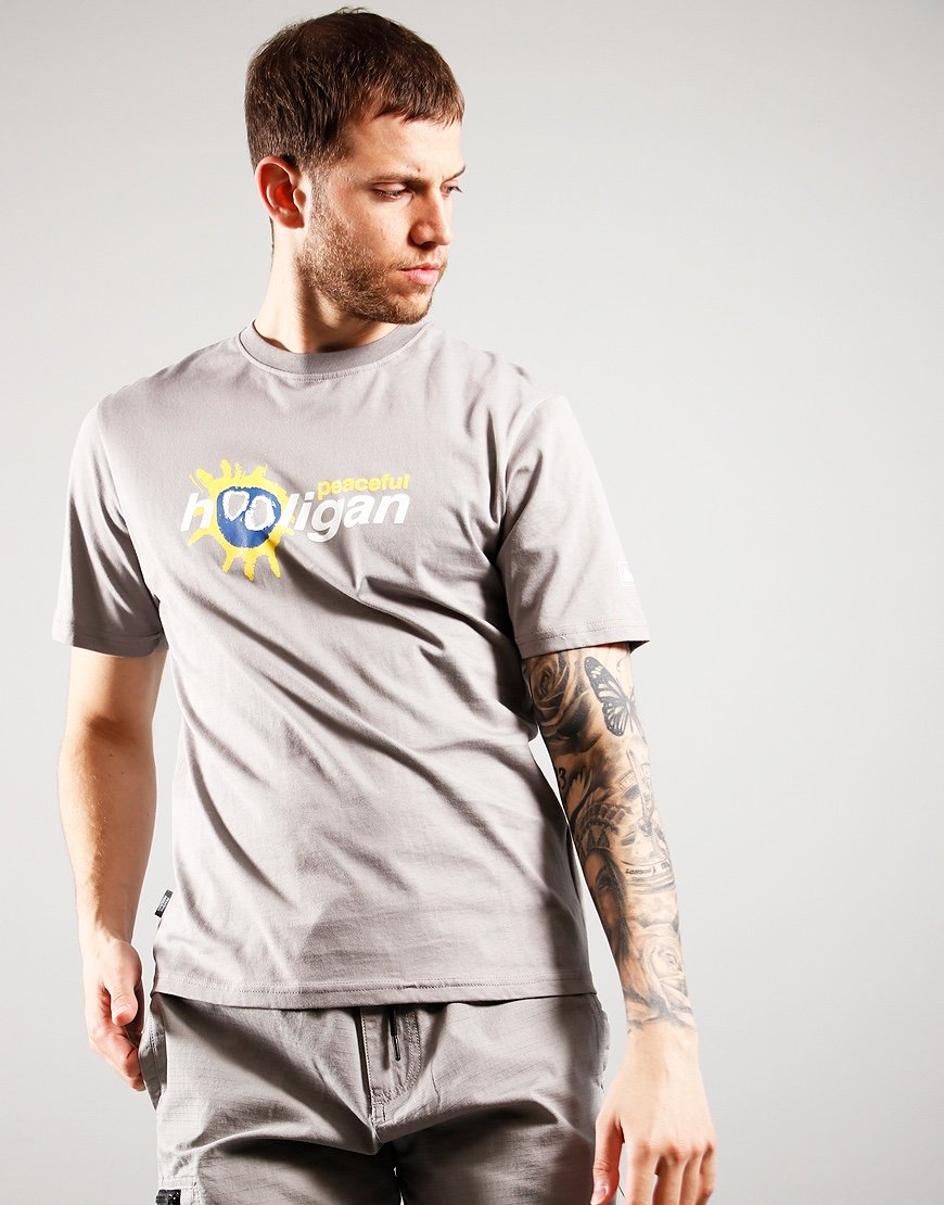 Peaceful Hooligan Scream T-Shirt Grey