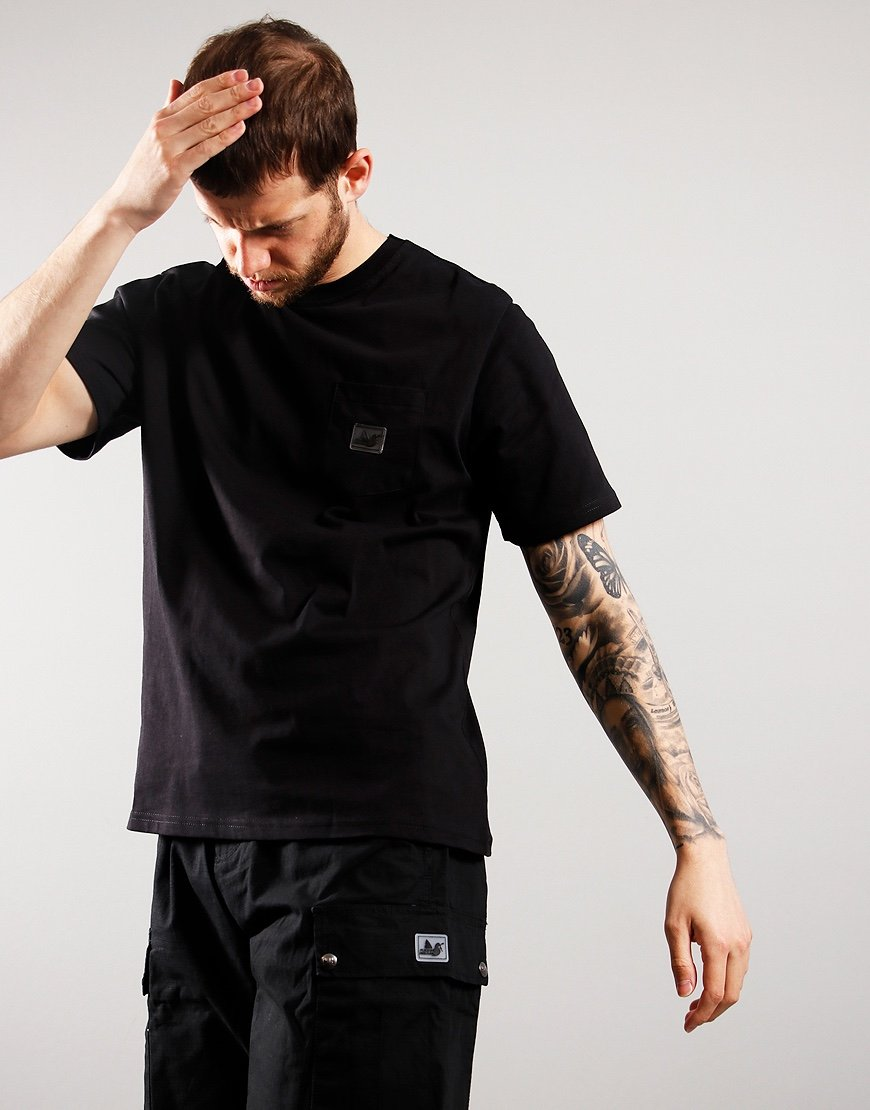 Peaceful Hooligan Slate T-Shirt Black