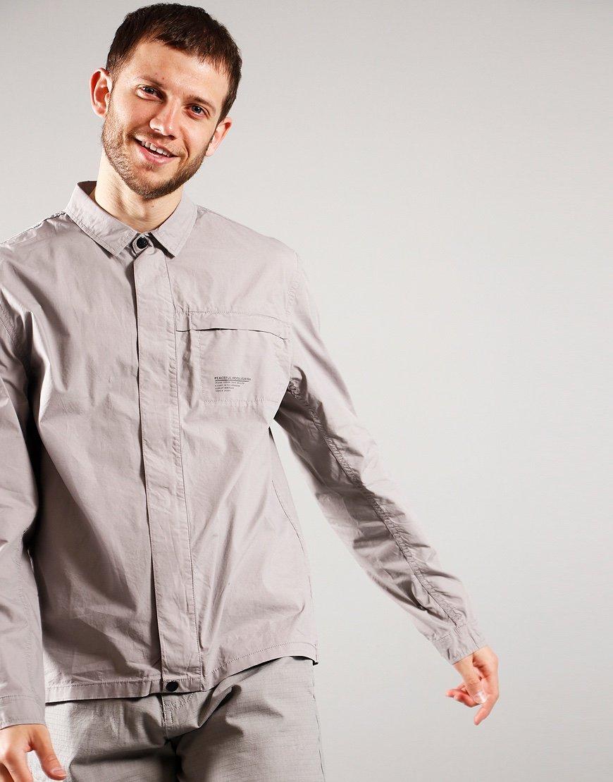 Peaceful Hooligan Staff Overshirt Mineral Grey