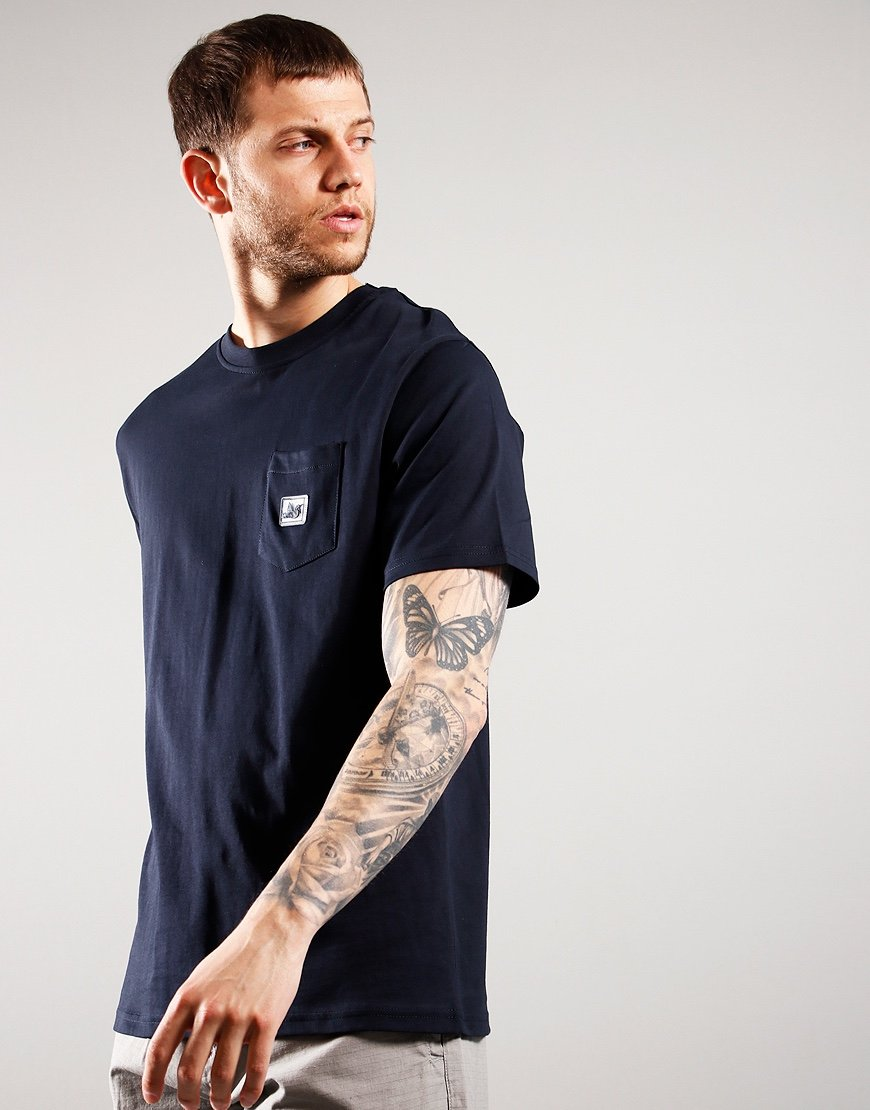 Peaceful Hooligan Slate T-Shirt Navy