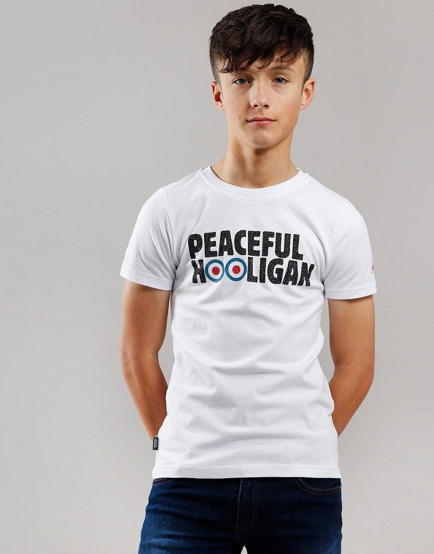 Peaceful Hooligan Junior Target T-Shirt White