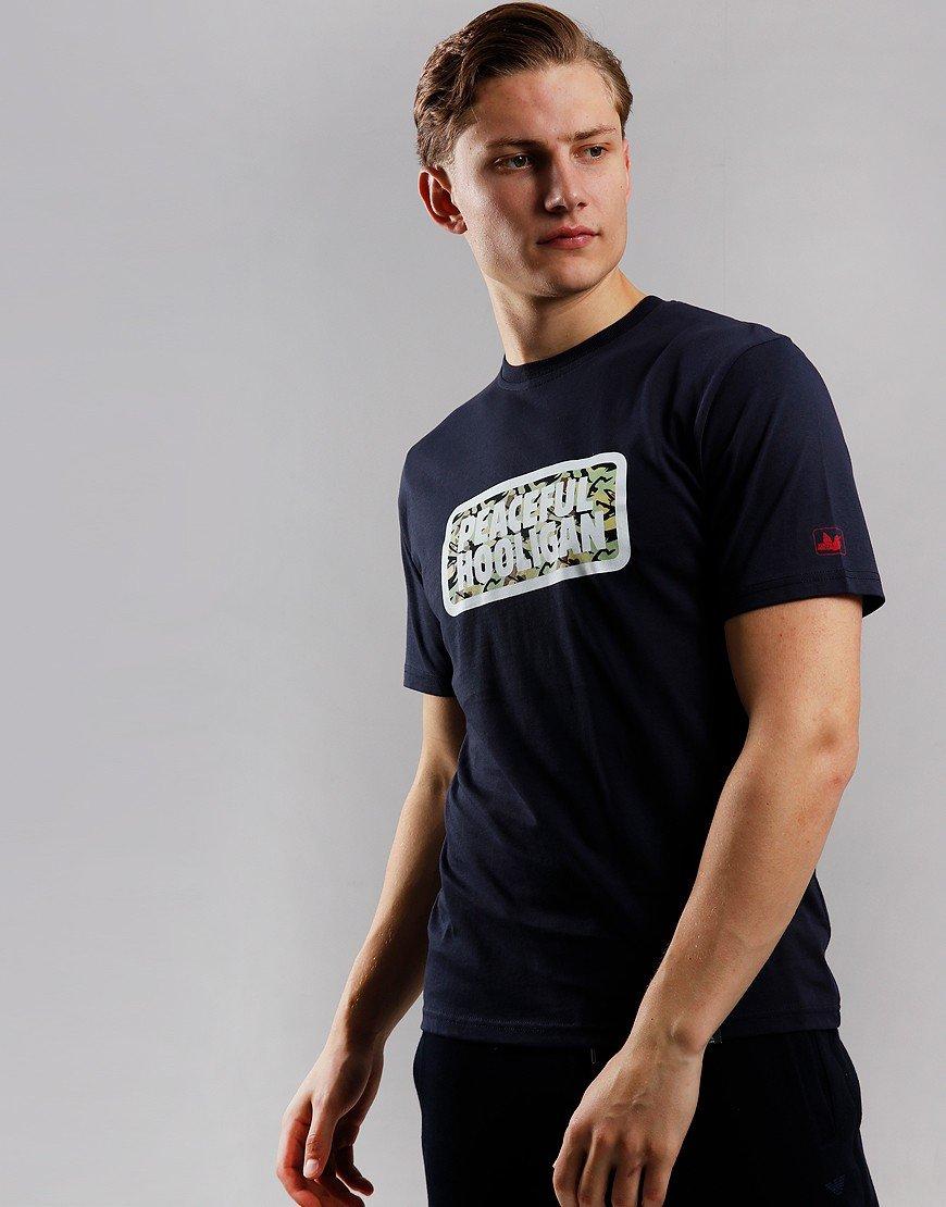 Peaceful Hooligan Woodland Box T-Shirt Navy