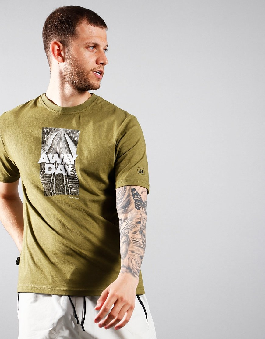 Peaceful Hooligan Awaydays T-Shirt Olive