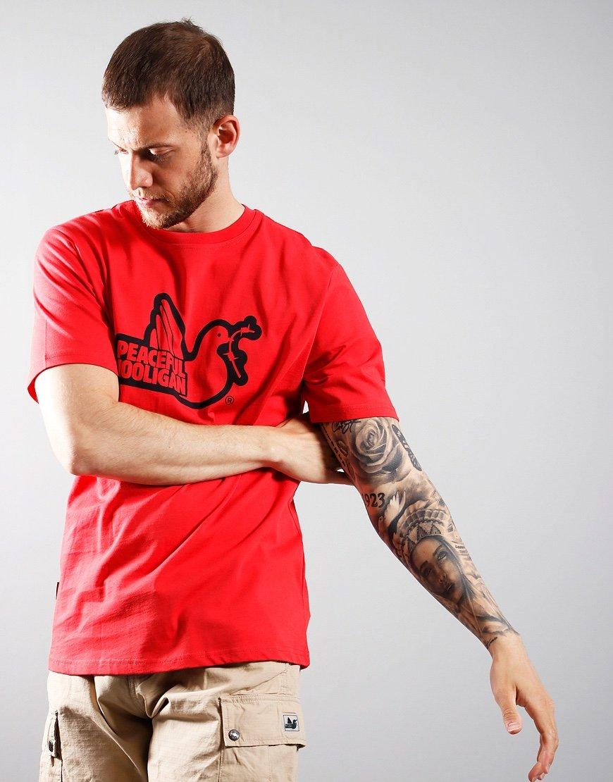 Peaceful Hooligan Outline Dove T-Shirt Dahlia