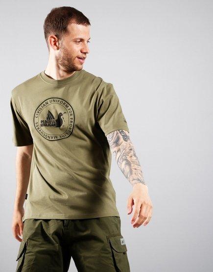 Peaceful Hooligan Yielding T-shirt Olive