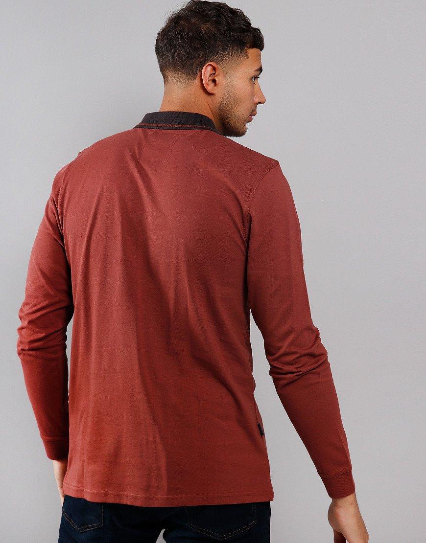 Peaceful Hooligan Goodfellow Long Sleeve Polo Shirt Sable