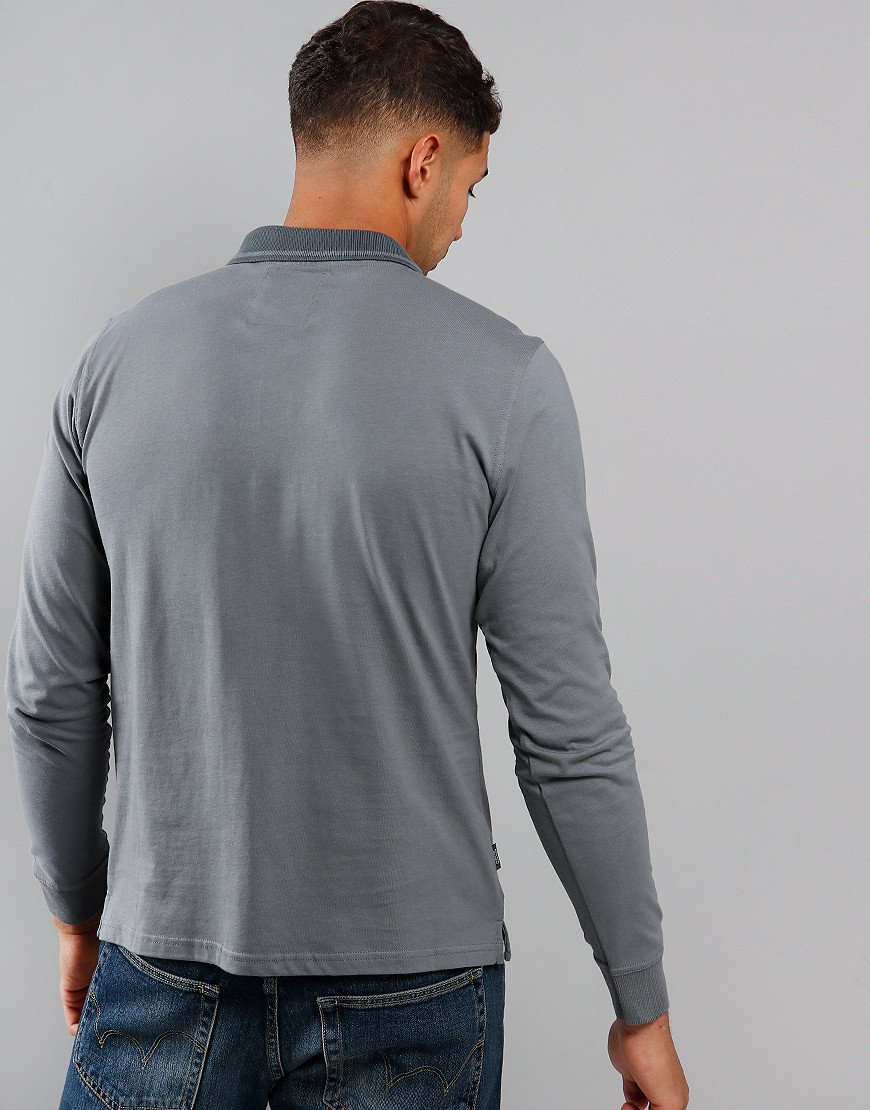 Peaceful Hooligan Goodfellow Long Sleeve Polo Shirt Steel Grey