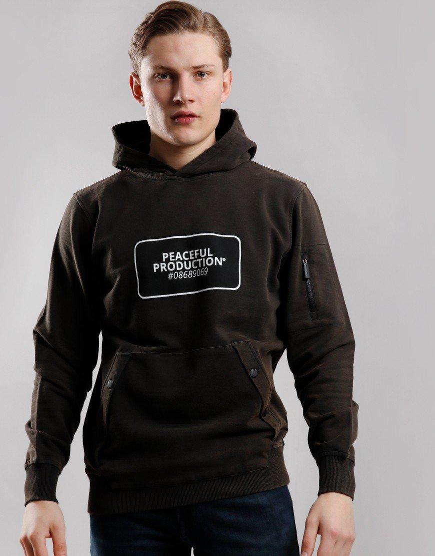 Peaceful Production Drum Logo Sweat Black