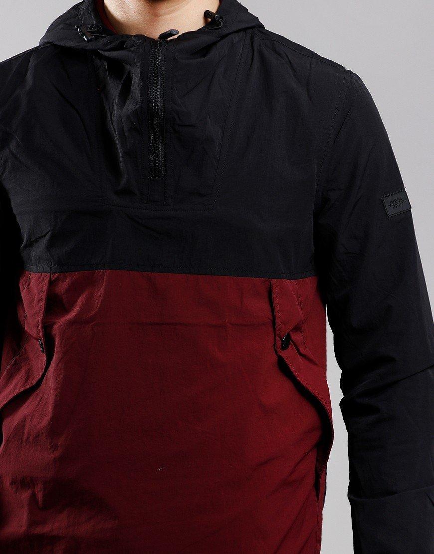 Peaceful Production Split Smock Jacket Black/Zinfandel