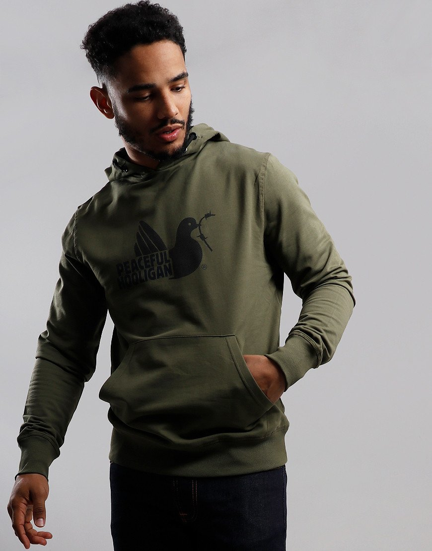 Peaceful Hooligan Telegraph Hoodie Dark Olive