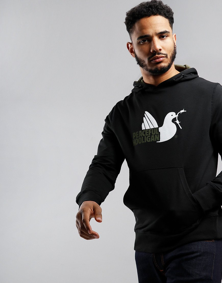 Peaceful Hooligan Telegraph Hoodie Black