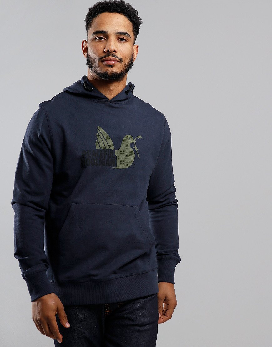 Peaceful Hooligan Telegraph Hoodie Navy