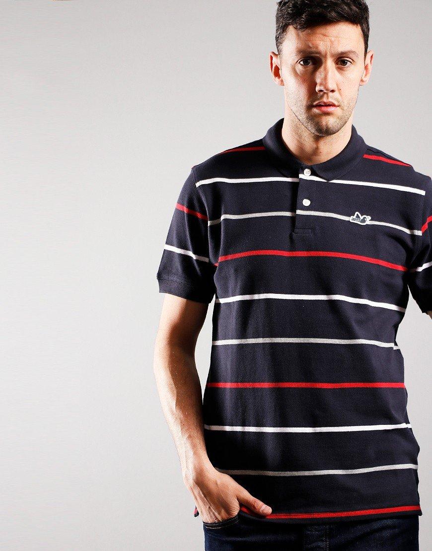 Peaceful Hooligan Carlton Polo Shirt Navy