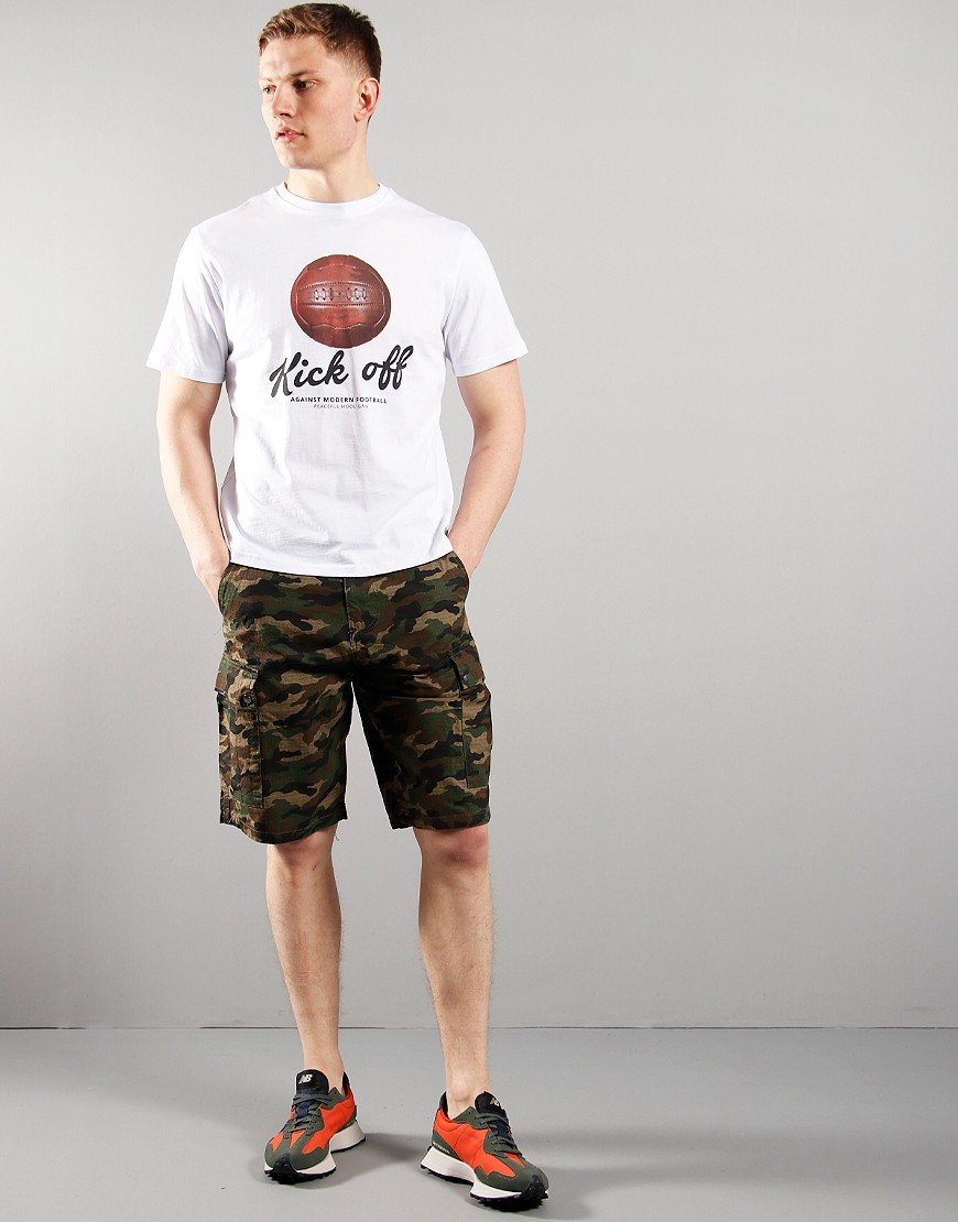Peaceful Hooligan Container Ripstop Shorts Woodland Camo
