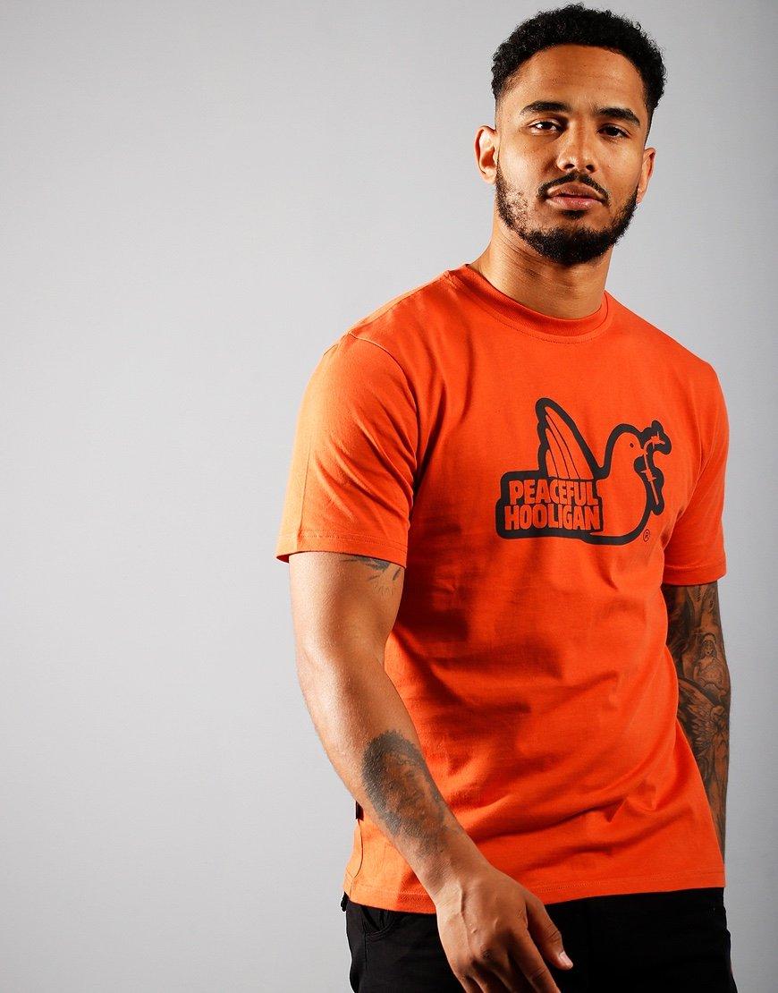 Peaceful Hooligan Outline T-Shirt Rust