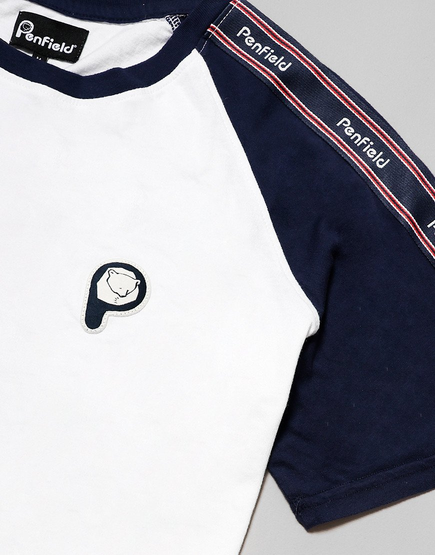 Penfield Kenney Tape T-Shirt White