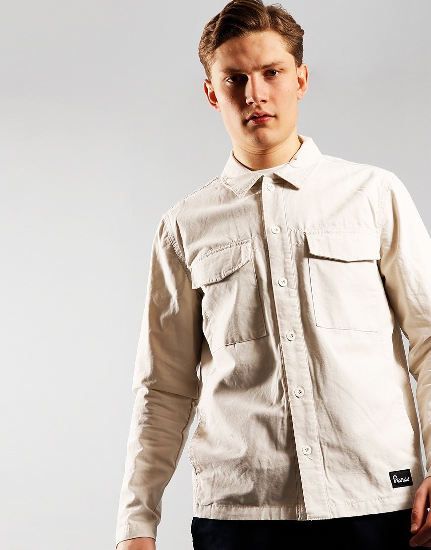 Penfield Napier Overshirt  White Sand