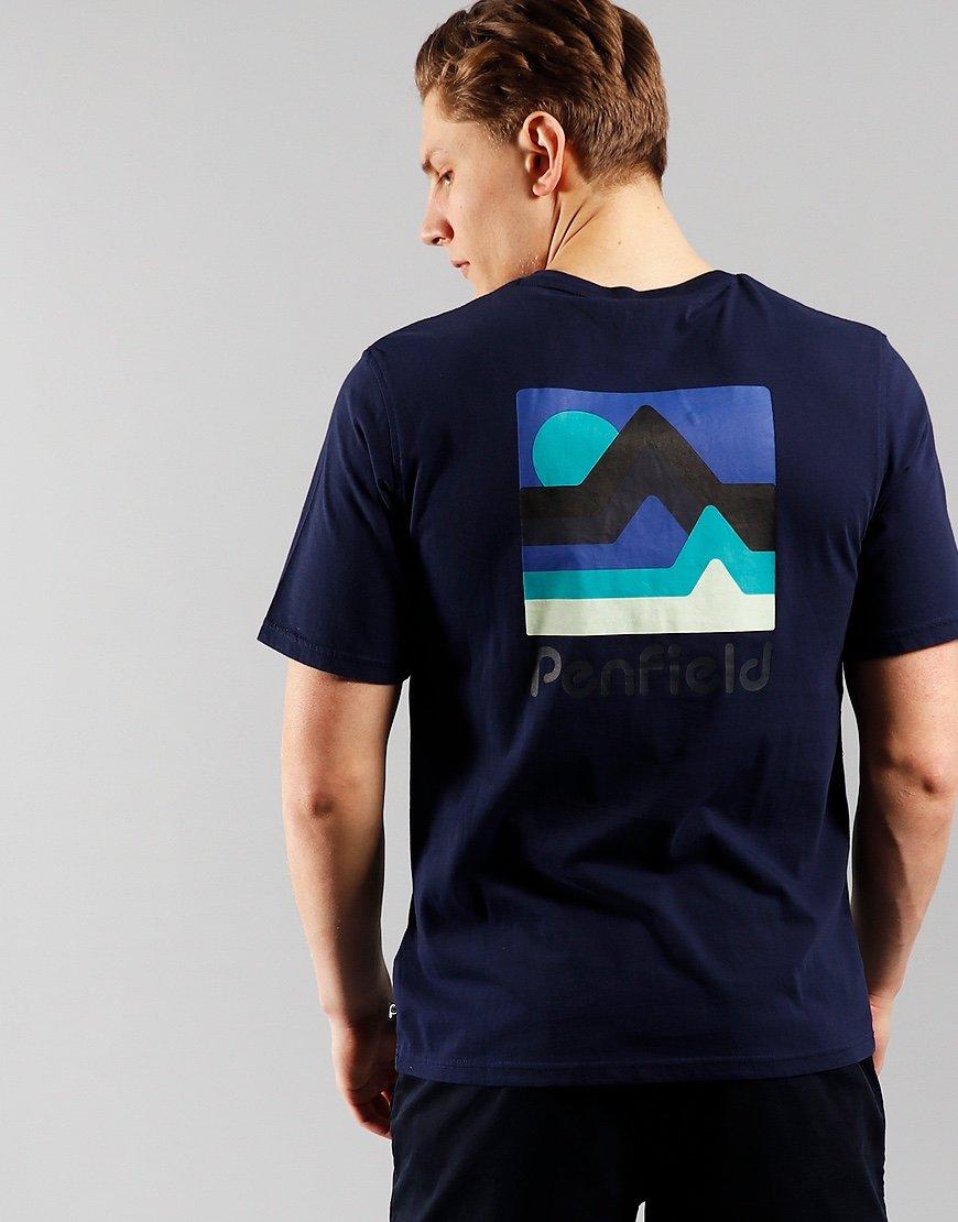 Penfield Wallpole T-shirt  Navy