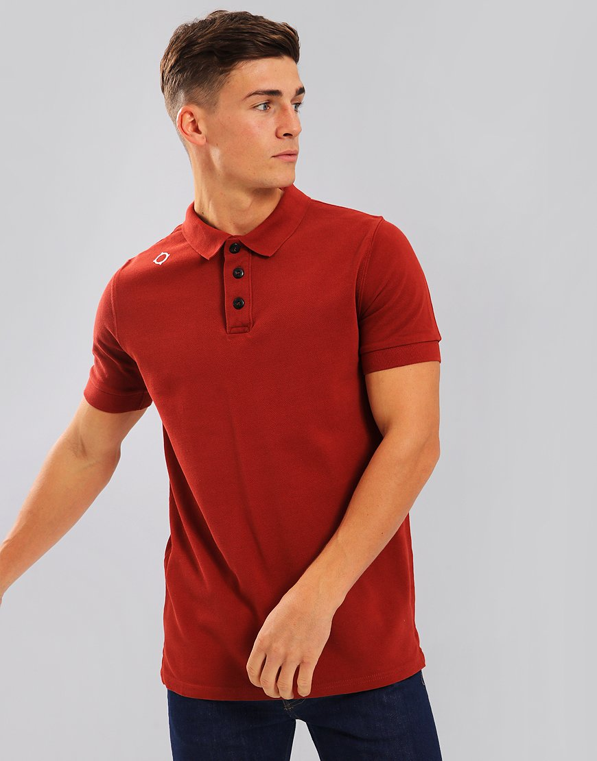 MA.Strum Pique Polo Shirt Dress Burnt Orange