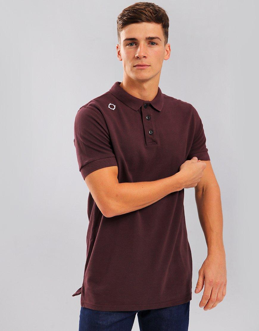 MA.Strum Pique Polo Shirt Huckleberry
