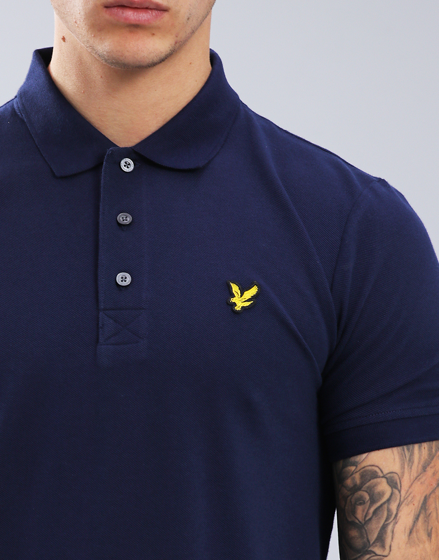 80ecb59c0 Lyle & Scott Plain Polo Shirt Navy - Terraces Menswear