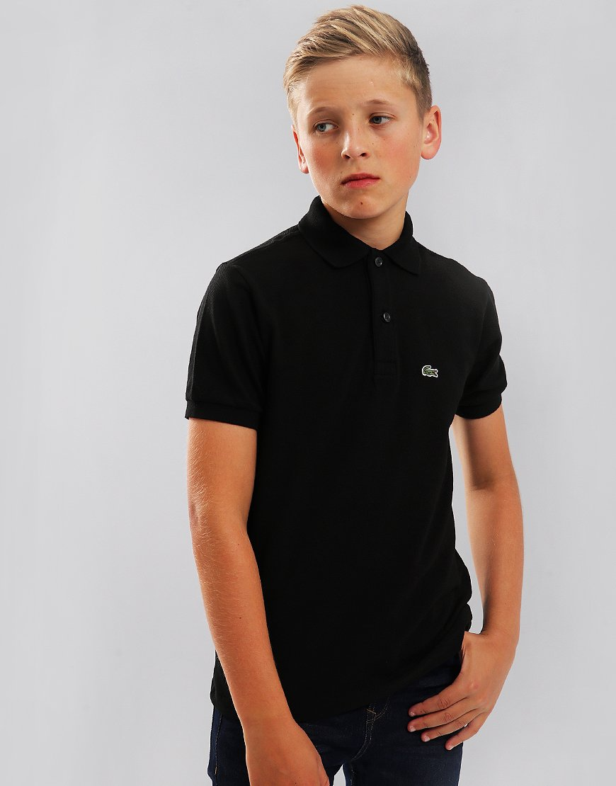 127b831feae848 Lacoste Kids Plain Polo Shirt Black - Terraces Menswear