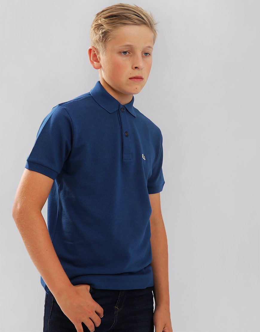 Lacoste Kids Plain Polo Shirt Inkwell