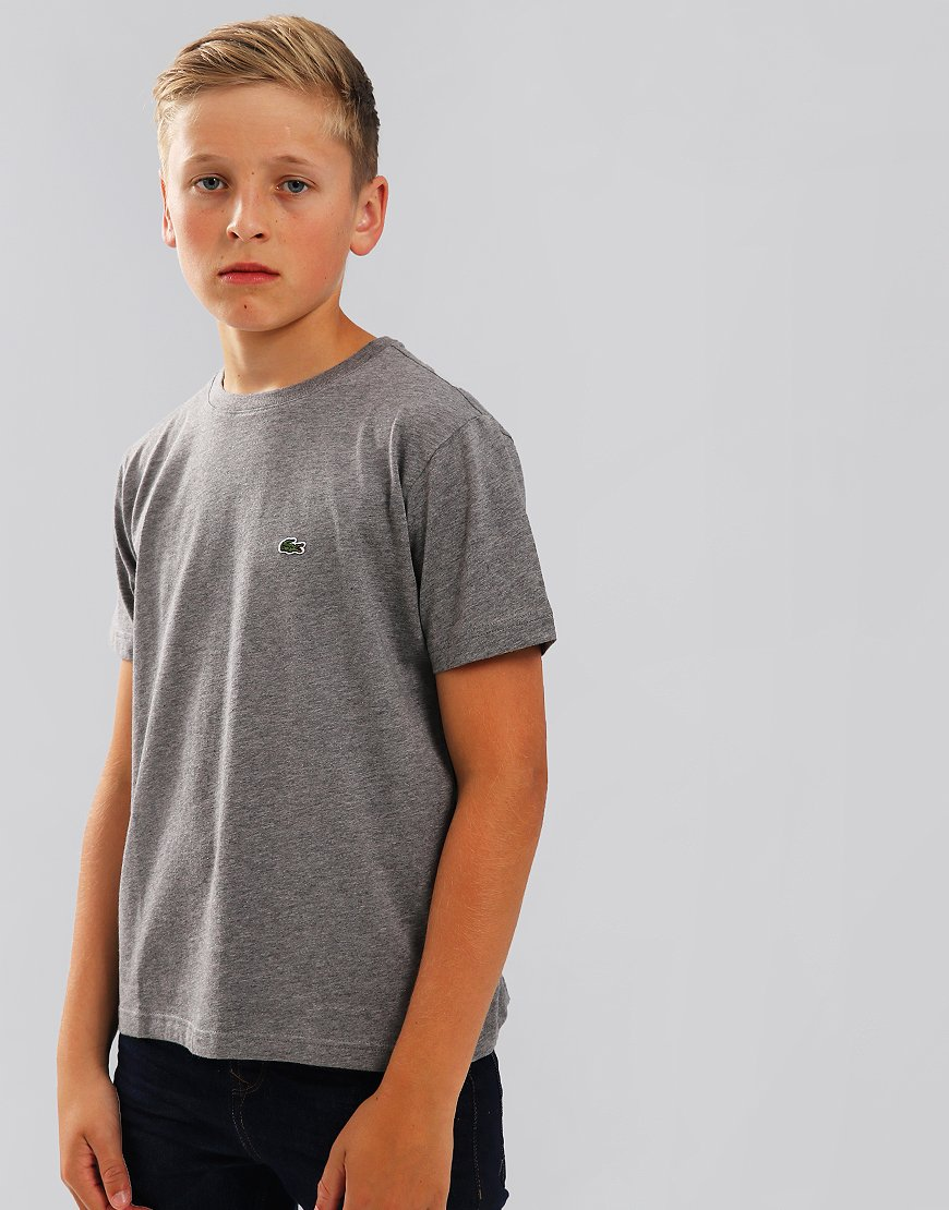 Lacoste Kids Crew Neck T-Shirt With Chest Logo Stone Chine