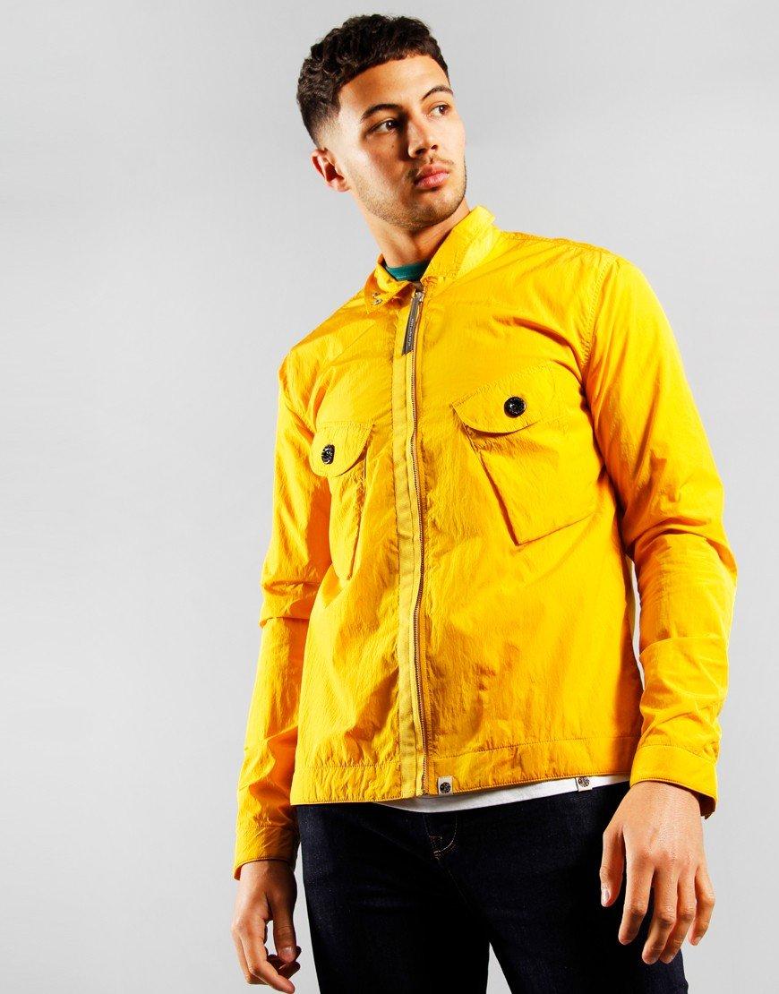 Pretty Green 2 Pocket Overshirt Yellow