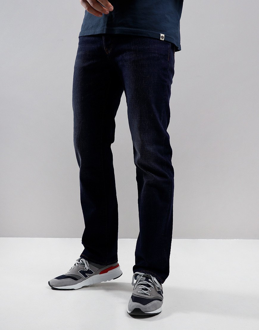 Pretty Green Burnage Regular Fit Jeans Rinsed Wash