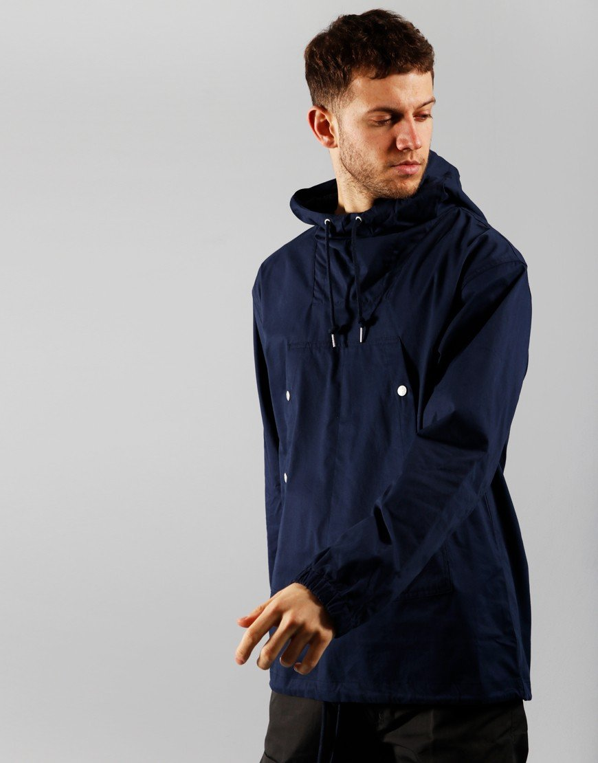 Pretty Green Cotton OH Jacket navy
