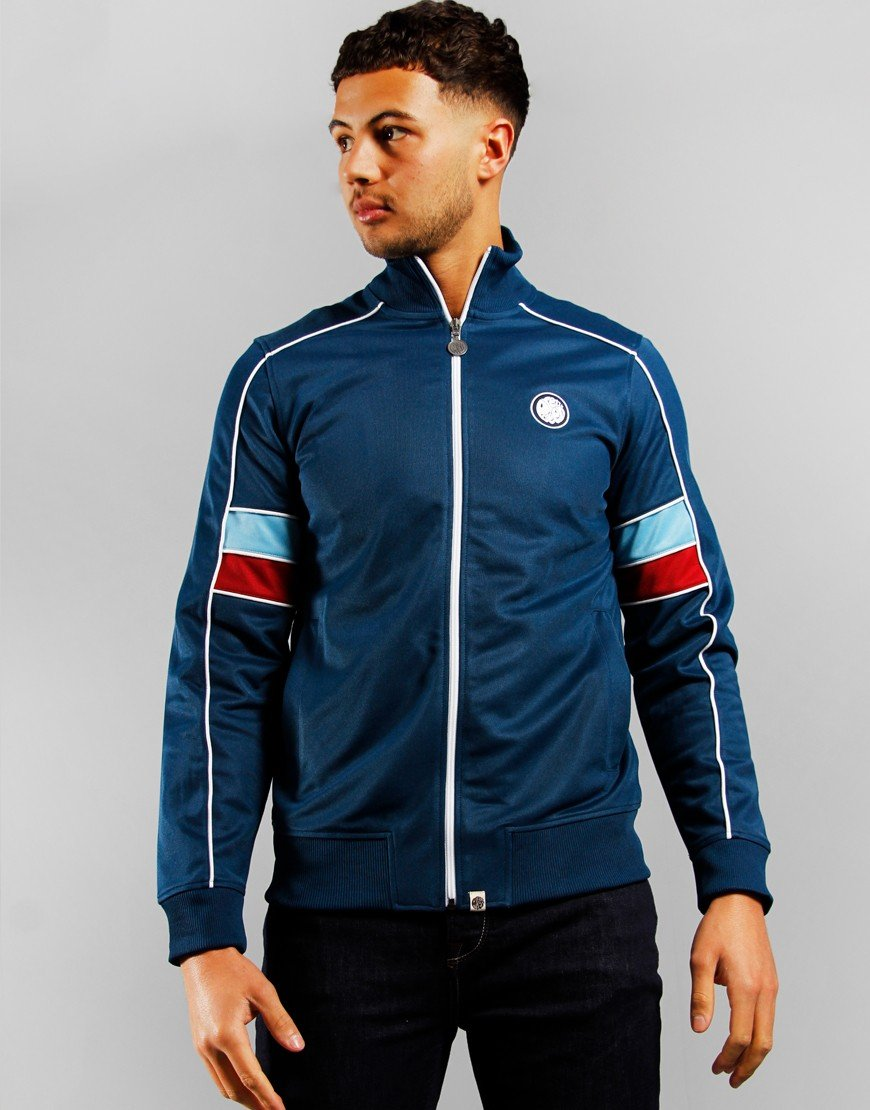 Pretty Green Piped Contrast Track Top Navy
