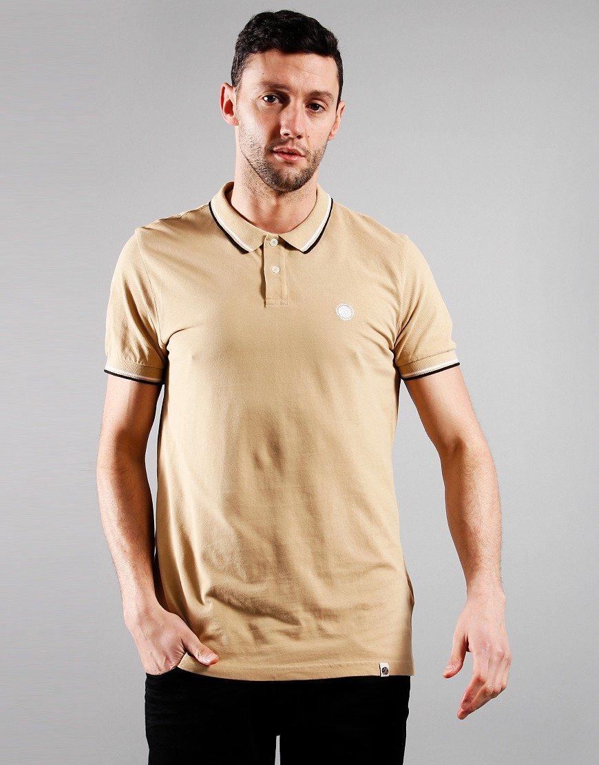 Pretty Green Short Sleeved Barton Polo Shirt Sand