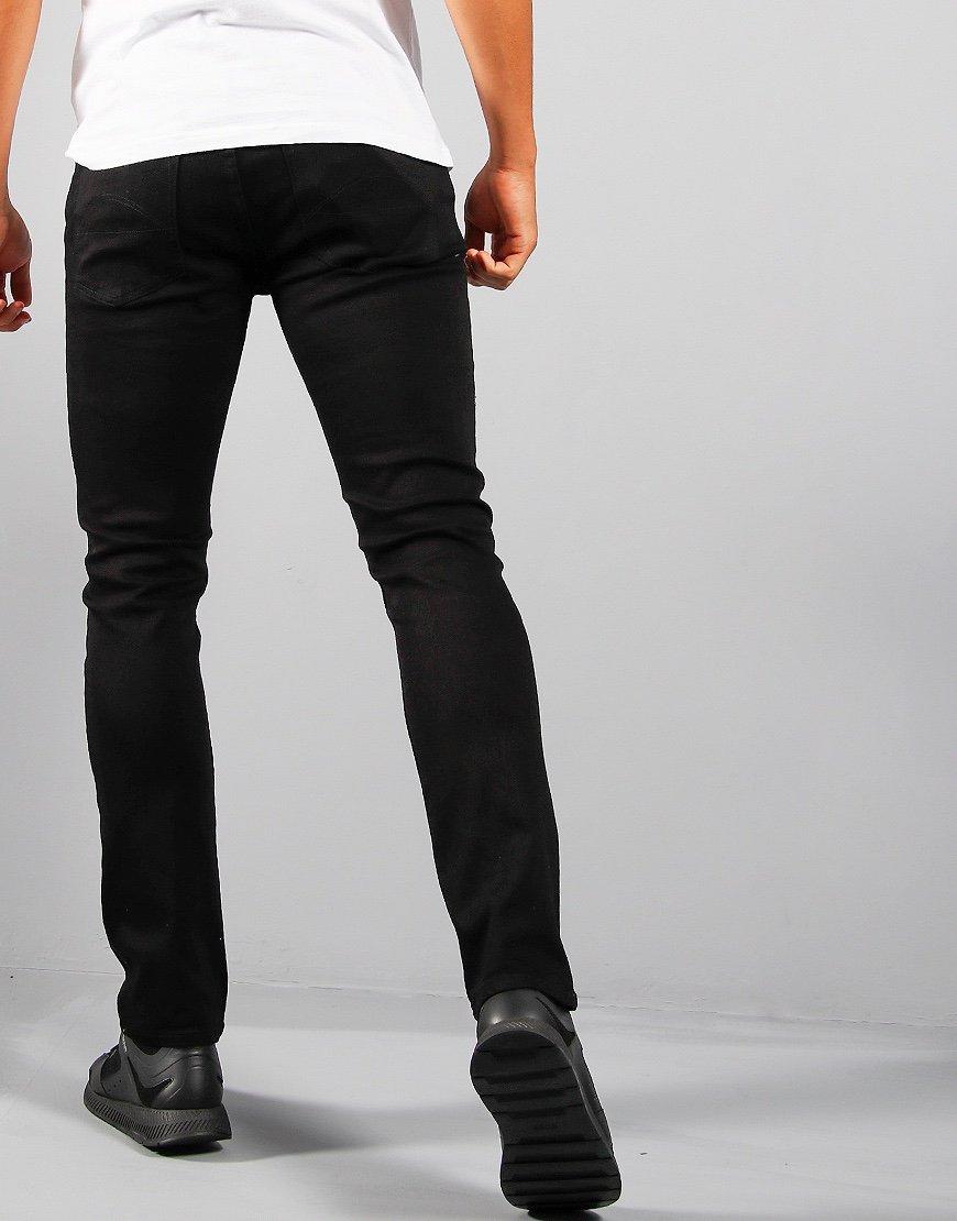 Pretty Green Castlefield Skinny Jeans Black