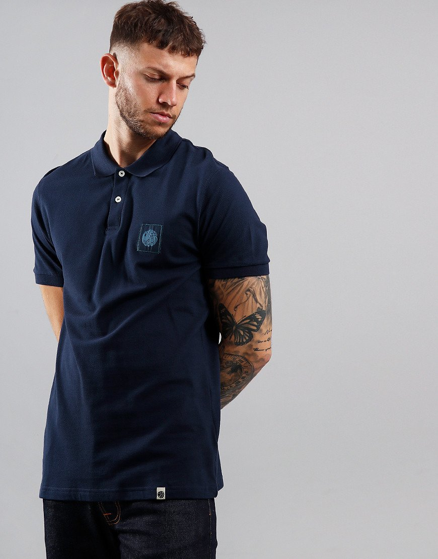 Pretty Green Chest Badge Polo Shirt Navy