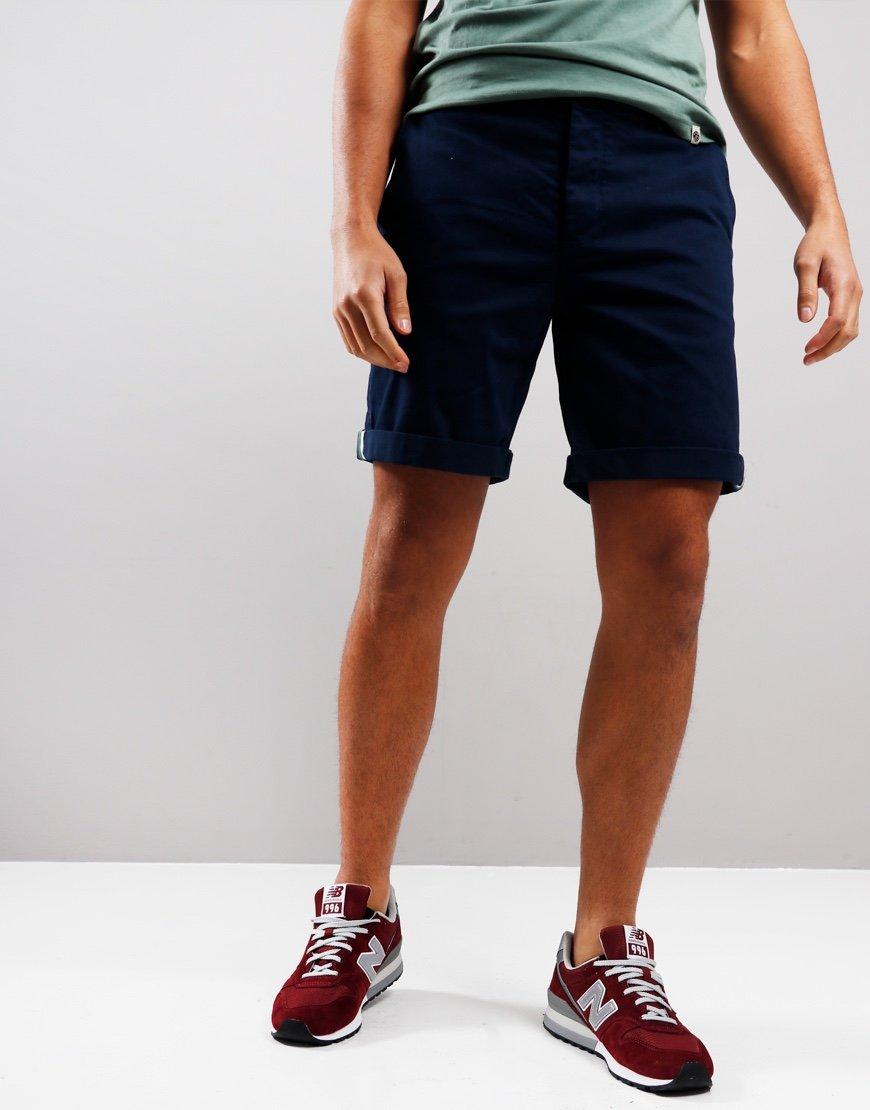 Pretty Green Chino Shorts Navy