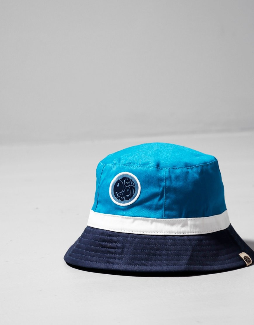 Pretty Green Kendrick Colour Block Bucket Hat Blue