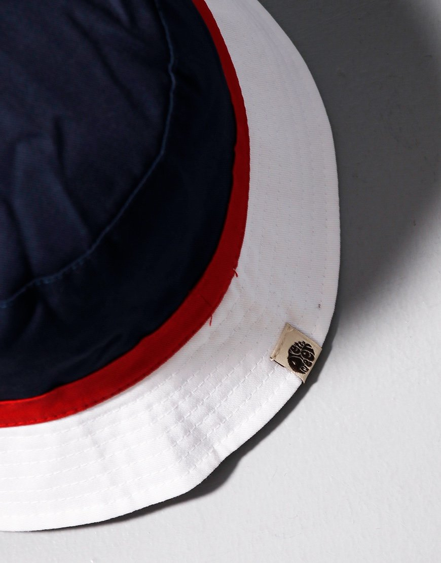 Pretty Green Kendrick Colour Block Bucket Hat Navy