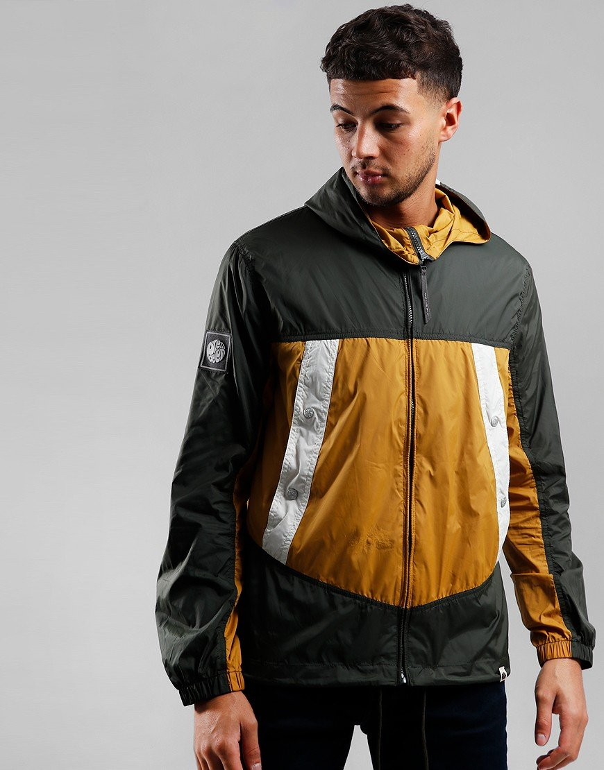Pretty Green Colour Block Jacket Green