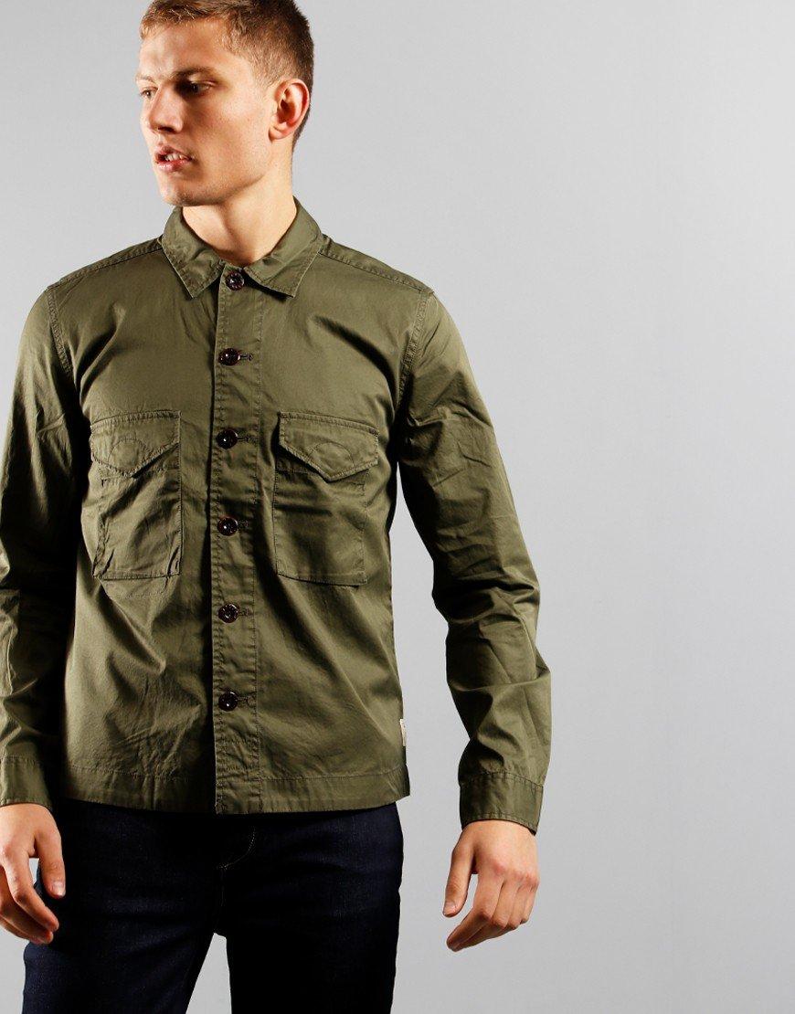 Pretty Green Connor Overshirt Khaki