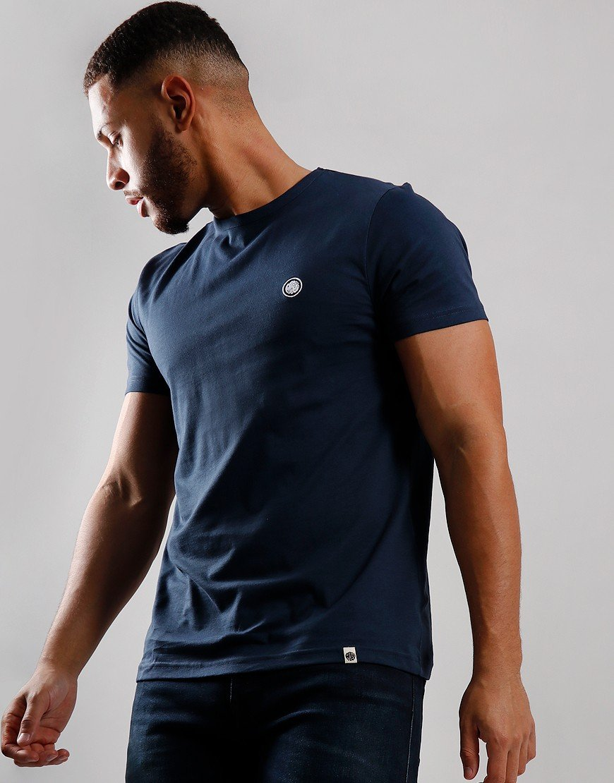 Pretty Green Cotton Logo T-Shirt Navy