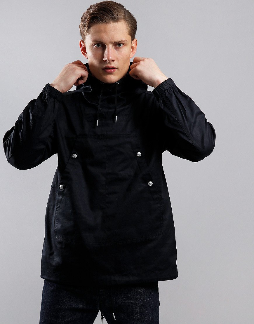 Pretty Green Cotton Overhead Jacket Black