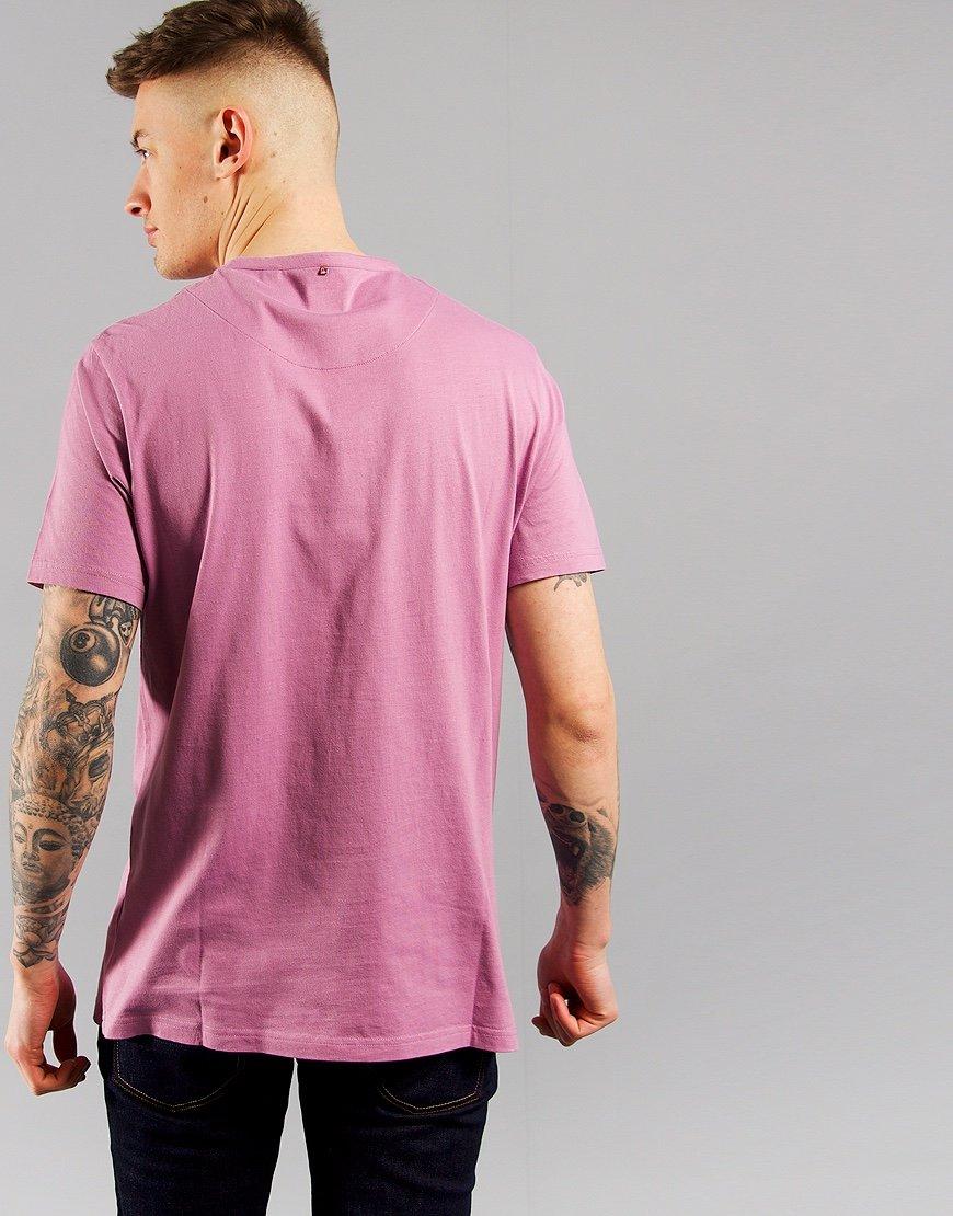 Pretty Green Cotton Logo T-Shirt Purple