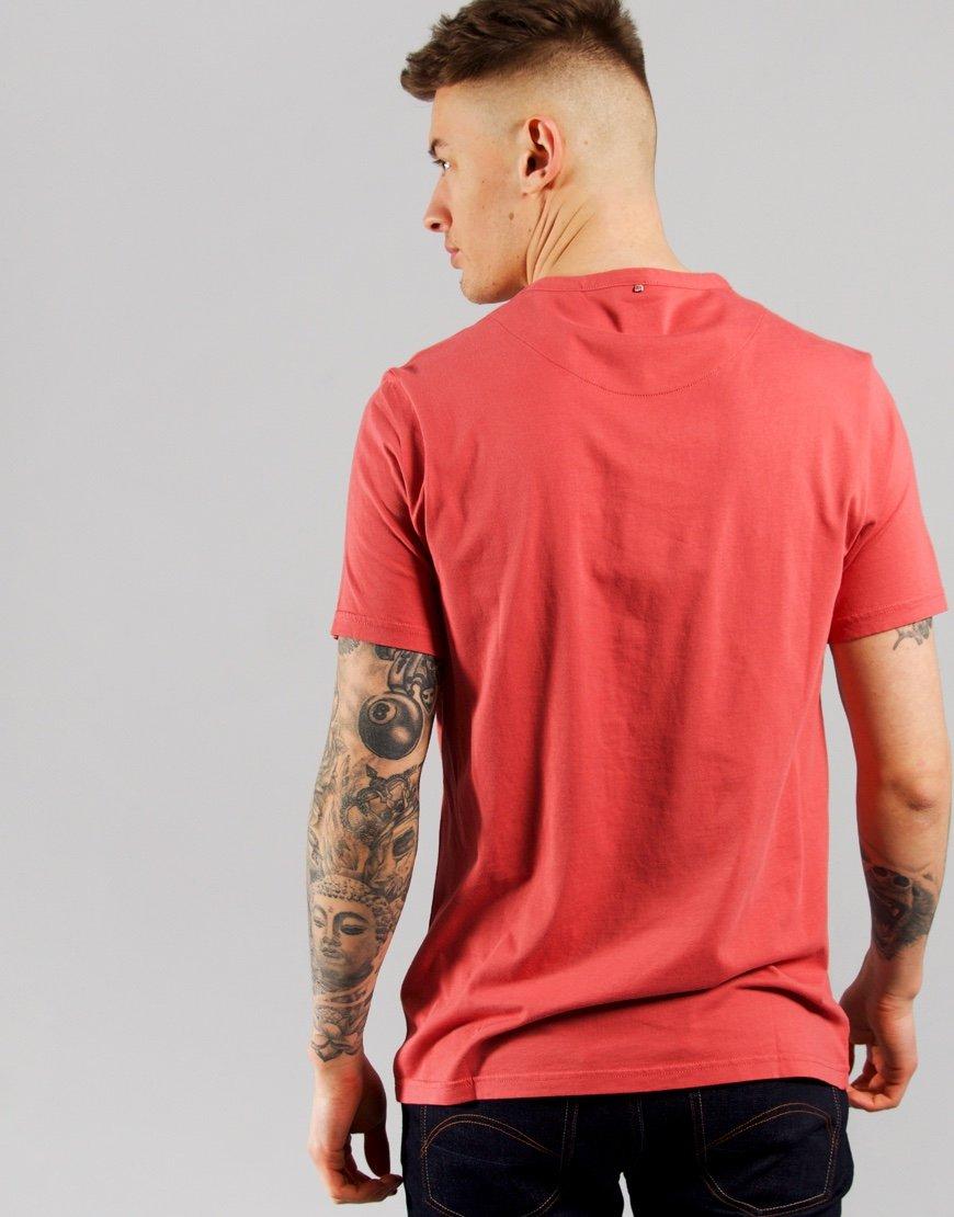 Pretty Green Cotton Logo T-Shirt Red