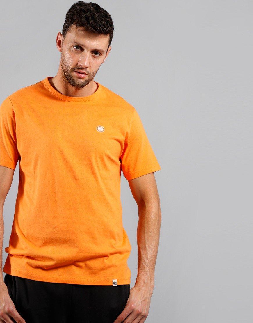 Pretty Green Cotton Logo T-Shirt Orange