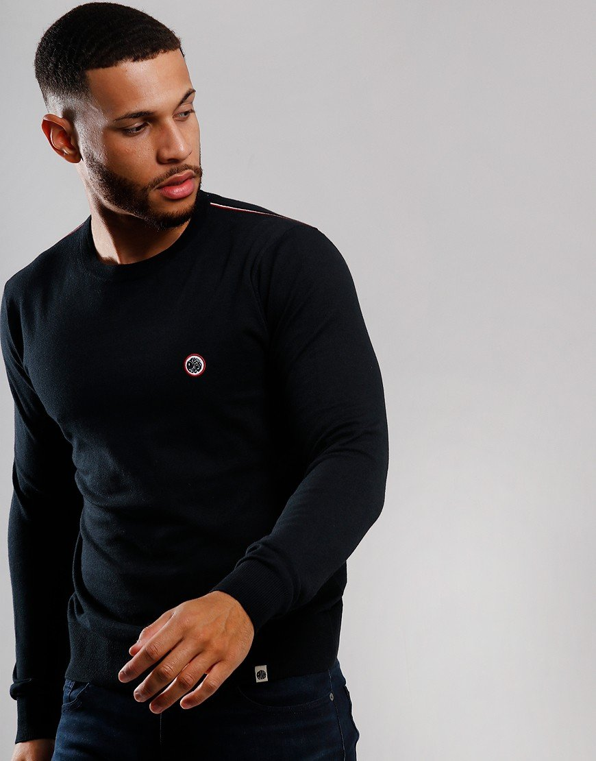 Pretty Green Knitted Crew Knit Black