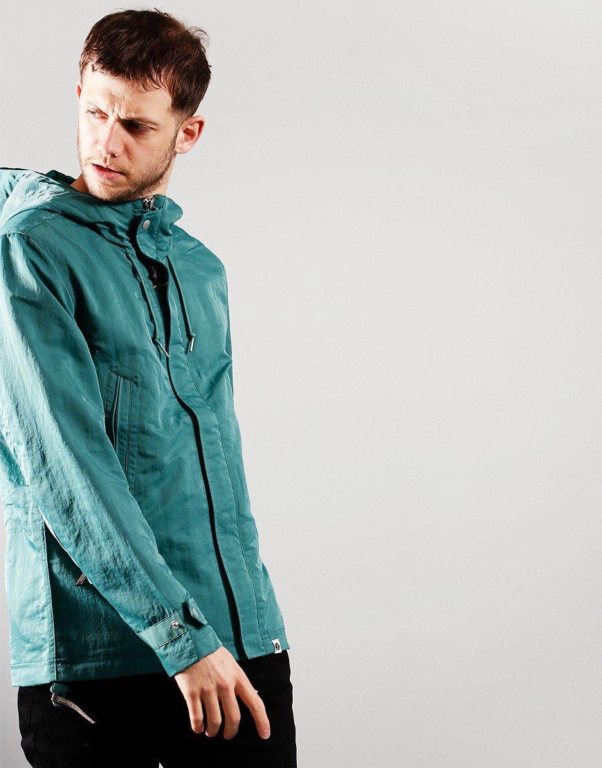 Pretty Green Crinkle Nylon Hooded Jacket Blue