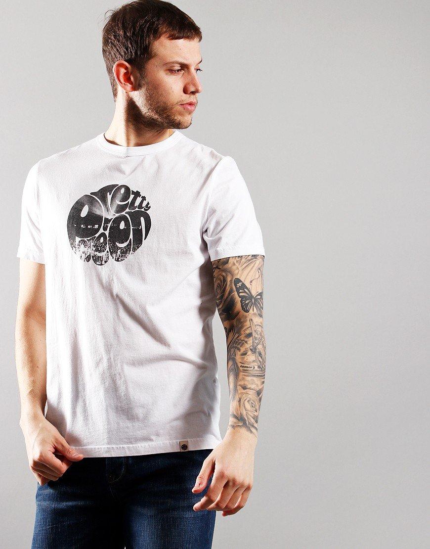 Pretty Green Crowd Print T-Shirt White