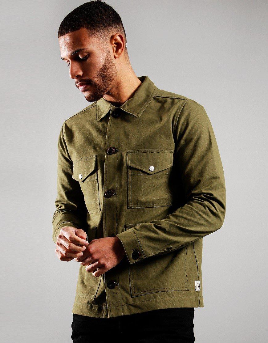 Pretty Green Four Pocket Overshirt Khaki